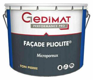 Peinture façade pliolite ton pierre 10 L GEDIMAT PERFORMANCE PRO - Gedimat.fr