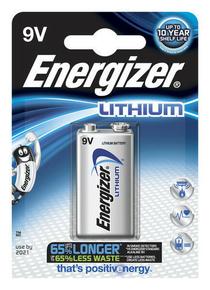 Pile lithium ULTIMATE ENERGIZER type 6LR61 9 volts sous blister de 1 pile - Gedimat.fr