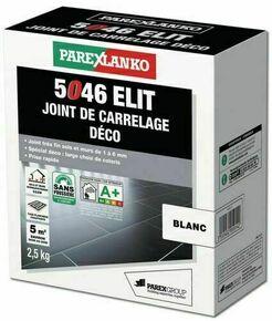 Joint de carrelage déco 1 à 6mm 5046 ELIT seau de 2,5kg coloris blanc - Gedimat.fr