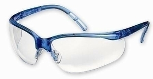 Lunettes de protection polycarbonate bleu - Gedimat.fr