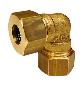 Coude instantané laiton brut à collet battu et joint mixte écrou diam.15x21mm pour tube cuivre diam.14mm sous coque de 1 pièce - Gedimat.fr