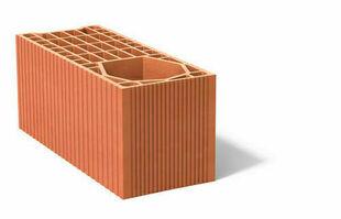 Brique poteau rectifié 15 demi  - 500x200x212mm - Gedimat.fr