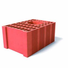 Brique poteau rectifié demi MONOMUR 30 - 450x300x212mm - Gedimat.fr