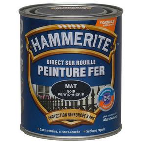 Peinture décorative antirouille CORONA HAMMERITE aspect martelé coloris noir 0,75L - Gedimat.fr
