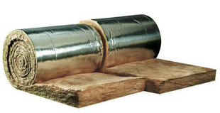 Laine de verre en rouleau à agrafer TR 312 revêtue alu long.9m larg.45cm ép.200mm vendu par 2 rouleaux - Gedimat.fr