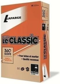 Ciment LE CLASSIC CEM II/B-m(ll-v) 32,5 R CE NF - sac de 25kg - Gedimat.fr