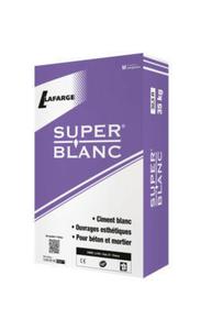 Ciment SUPERBLANC  CEM11/B-ll 32,5R CE CP2 NF - sac de 35kg - Gedimat.fr