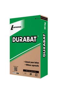 Ciment CEM I 52,5 CE NF Durabat sac de 25kg - Gedimat.fr