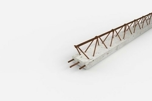 Poutrelle treillis Hybride RAID long.béton 4.70m SH portée libre 4.65m - Gedimat.fr