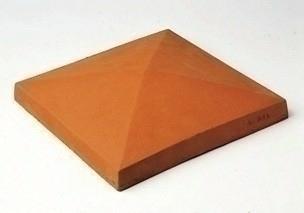 chapeau de pilier terre cuite 42x42cm haut 5cm. Black Bedroom Furniture Sets. Home Design Ideas