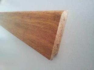 plinthe en bois massif haut 8 8cm long 1 85m bamwood caramel verni. Black Bedroom Furniture Sets. Home Design Ideas