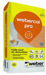 Mortier-colle WEBER.COL PRO sac 25kg gris - Gedimat.fr