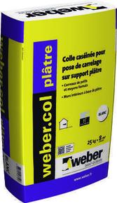 Mortier-colle WEBER.COL PLATRE sac de 25kg - Gedimat.fr
