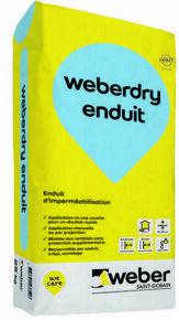 Enduit d 39 imperm abilisation weber dry enduit sac 25kg for Prix sac enduit weber