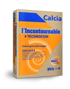 Ciment TECHNOCEM CEM II/A-LL 32,5 R CE CP2 NF - sac de 35kg - Gedimat.fr