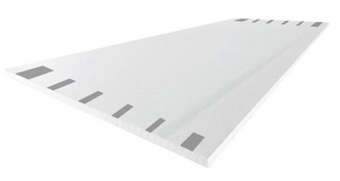 Plaque de plâtre prépeinte SYNIA déco 4BA13 ép.12,5mm larg.1,20m long.3,60m - Gedimat.fr