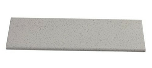 Plinthe à recouvrement carrelage en grès cérame pleine masse UNI larg.10cm long.20cm coloris beige ivory - Gedimat.fr
