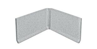 Angle rentrant carrelage pour sol en grès cérame pleine masse DOTTI larg.3cm long.10cm coloris light grey - Gedimat.fr