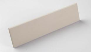 Plinthe droite carrelage pour sol en grès cérame pleine masse DOTTI larg.7cm long.30cm coloris light grey - Gedimat.fr
