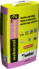 Mortier-colle WEBER.COL ANHYDRITE sac 15kg gris - Gedimat.fr