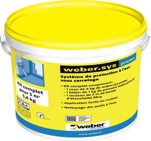 Protection à l'eau WEBER.SYS PROTEC kit de 5m² - Gedimat.fr