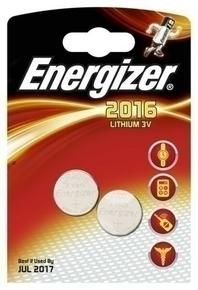 Pile lithium ENERGIZER type CR2016 3 volts sous blister de 2 piles - Gedimat.fr