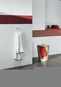 Décor Lineas carrelage pour mur en faïence THAI larg.25cm long.70cm coloris rojo - Gedimat.fr