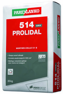Mortier-colle normal C1 E 514 PROLIDAL sac de 25kg coloris gris - Gedimat.fr