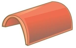 Faîtière demi-ronde à sceller coloris sable normand - Gedimat.fr