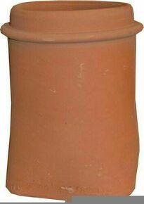 Mitre en terre cuite à collerette N°6 20x20cm haut.33cm diam.160mm coloris rouge - Gedimat.fr