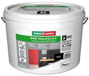 Colle et joint poxy prolipox m s 549 coloris noir 2 5kg for Parexlanko colle et joint