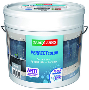 Joint époxy pour la réalisation de joints de 2 à 15 mm résistants à l'eau PERFECT COLOR coloris gris 5kg - Gedimat.fr