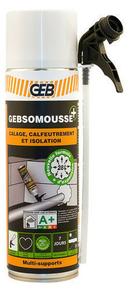 Mousse polyuréthane monocomposante polymérisant au contact de l'humidité de l'air Gebmousse aérosol 650/500ml crème - Gedimat.fr