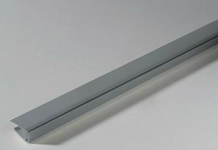Profil PVC départ clipsable ép.5 à 8 mm long.2,60m grey - Gedimat.fr