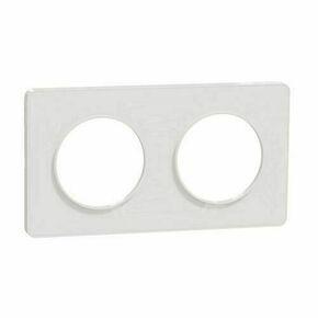 Plaque de finition double horizontale pour appareillage encastré à composer Odace Touch blanc/liseré blanc - Gedimat.fr