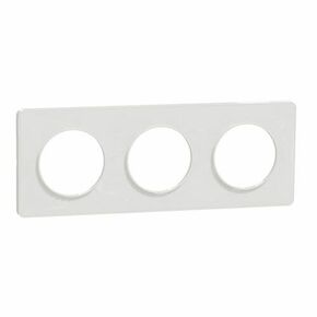 Plaque de finition triple horizontale pour appareillage encastré à composer Odace Touch blanc-liseré blanc - Gedimat.fr