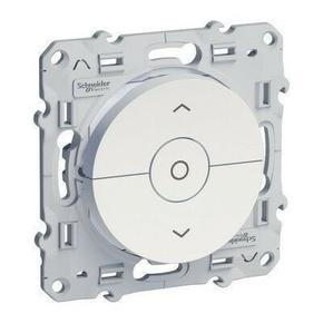 Interrupteur pour volet roulant encastré à composé Odace 3 boutons montée/descente et stop à vis blanc - Gedimat.fr
