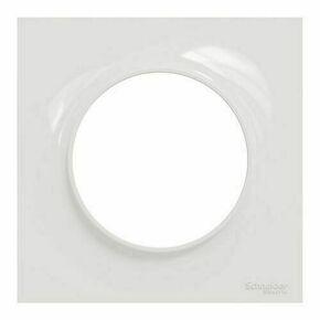 Plaque de finition simple pour appareillage encastré à composer Odace Styl blanc - Gedimat.fr