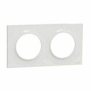 Plaque de finition double horizontale pour appareillage encastré à composer Odace Styl blanc - Gedimat.fr