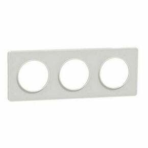 Plaque de finition triple horizontale pour appareillage encastré à composer Odace Styl blanc - Gedimat.fr