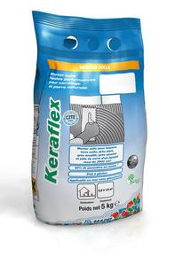 Mortier colle amélioré KERAFLEX sac de 5kg - classe C2TE coloris gris - Gedimat.fr