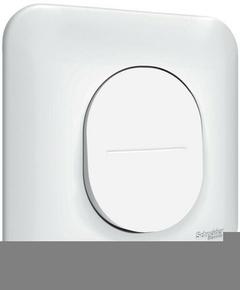 Interrupteur va et vient encastré mono référence commande simple Ovalis blanc - Gedimat.fr