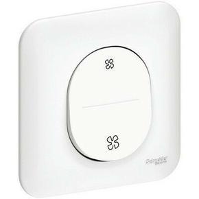 Interrupteur VMC encastré mono référence Ovalis vitesse lent et rapide blanc - Gedimat.fr