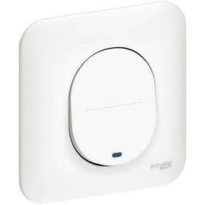 Poussoir lumineux pour appareillage encastré mono référence Ovais blanc - Gedimat.fr