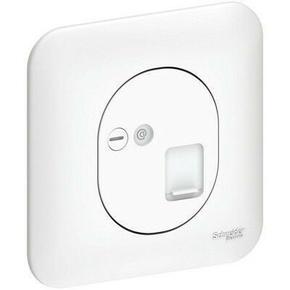 Prise de communication encastrée mono référence RJ45 grade 1 (téléphone et informatique) Ovalis blanc - Gedimat.fr