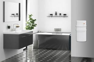 Radiateur sèche serviettes à soufflerie RHEA 1300W long.37cm haut.72cm prof.16,6cm blanc - Gedimat.fr