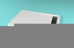Receveur rectangulaire à poser AVORIAZ en solid surface haut.4,5cm larg.80cm long.120cm blanc - Gedimat.fr