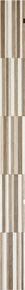 Listel carrelage pour mur en faïence SOHO larg.3,8cm long.70cm coloris arena - Gedimat.fr
