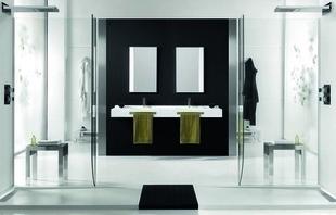 Porte-serviettes droit pour plan de toilette Dream en akron ardesia blanc - Gedimat.fr