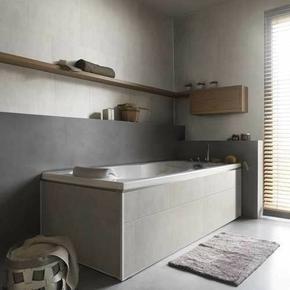 Lambris PVC El�ment grand format ''XL'' �p.8mm larg.375mm long.2,60m stone white - GEDIMAT - Mat�riaux de construction - Bricolage - D�coration